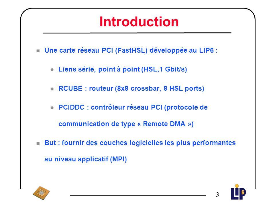 2 Plan n Introduction n Architecture matérielle n La couche de communication bas-niveau (PUT) n MPI sur la machine MPC1 l Problématique l Les messages