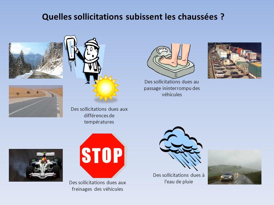 Synthèse : contraintes et solutions techniques retenues Contraintes climatiques : La chaussée doit résister aux sollicitations climatiques et thermiques.