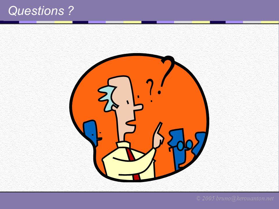 © 2005 bruno@kerouanton.net Questions