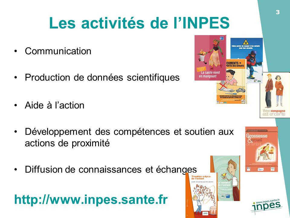 3 Communication Production de données scientifiques Aide à l'action Développement des compétences et soutien aux actions de proximité Diffusion de con
