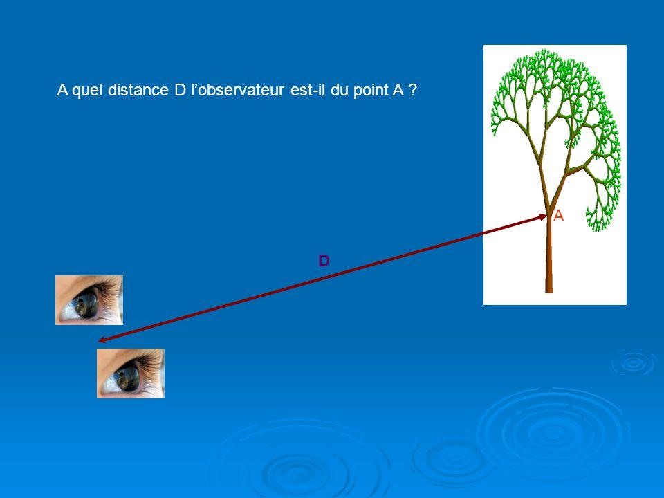 A D A quel distance D l'observateur est-il du point A
