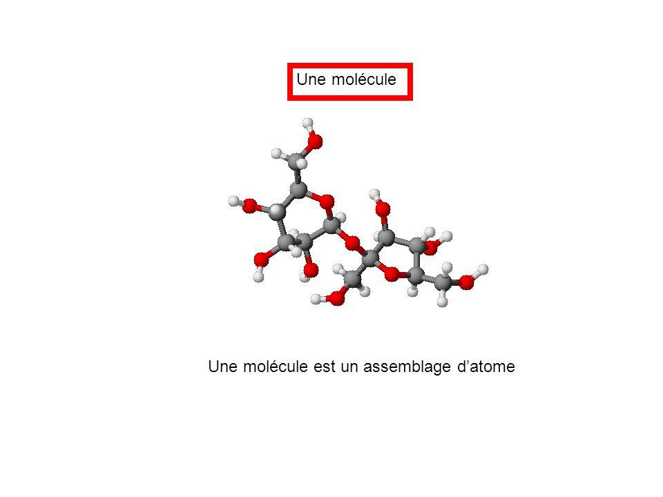 Une molécule Une molécule est un assemblage d'atome