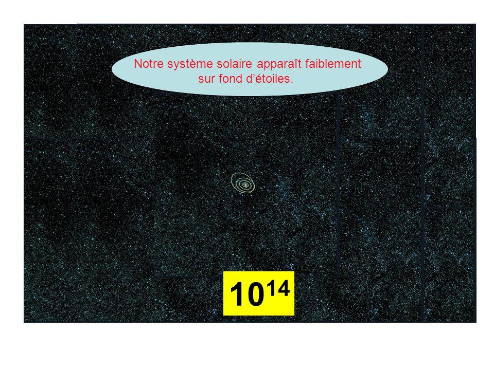 10 14 Notre système solaire apparaît faiblement sur fond d'étoiles.
