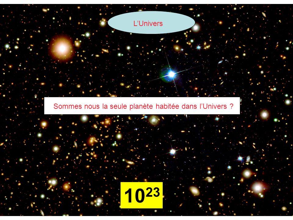 L'Univers 10 23 Sommes nous la seule planète habitée dans l'Univers ?