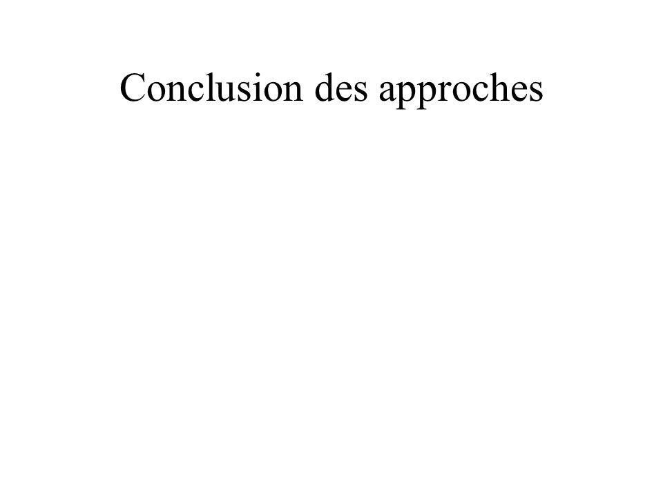 Conclusion des approches