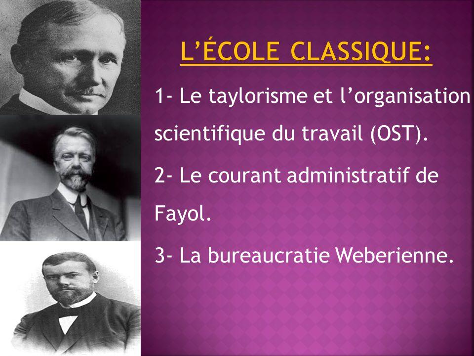 1- Le taylorisme et l'organisation scientifique du travail (OST).
