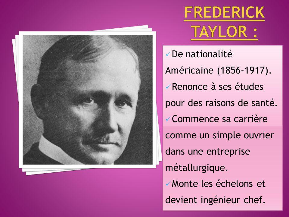 De nationalité Américaine (1856-1917).Renonce à ses études pour des raisons de santé.