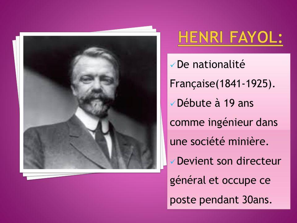 De nationalité Française(1841-1925).Débute à 19 ans comme ingénieur dans une société minière.