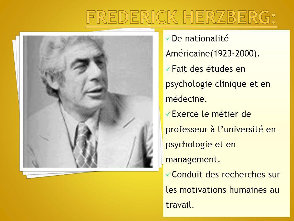 De nationalité Américaine(1923-2000). Fait des études en psychologie clinique et en médecine. Exerce le métier de professeur à l'université en psychol