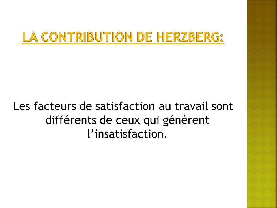 Les facteurs de satisfaction au travail sont différents de ceux qui génèrent l'insatisfaction.