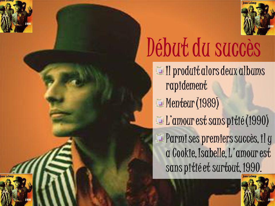Festival de Granby Concours amateur 1983 Adopté le nom Jean Leloup Gagne le concours Opéra rock Starmania Personnage de Ziggy (1986) Premier vidéoclip