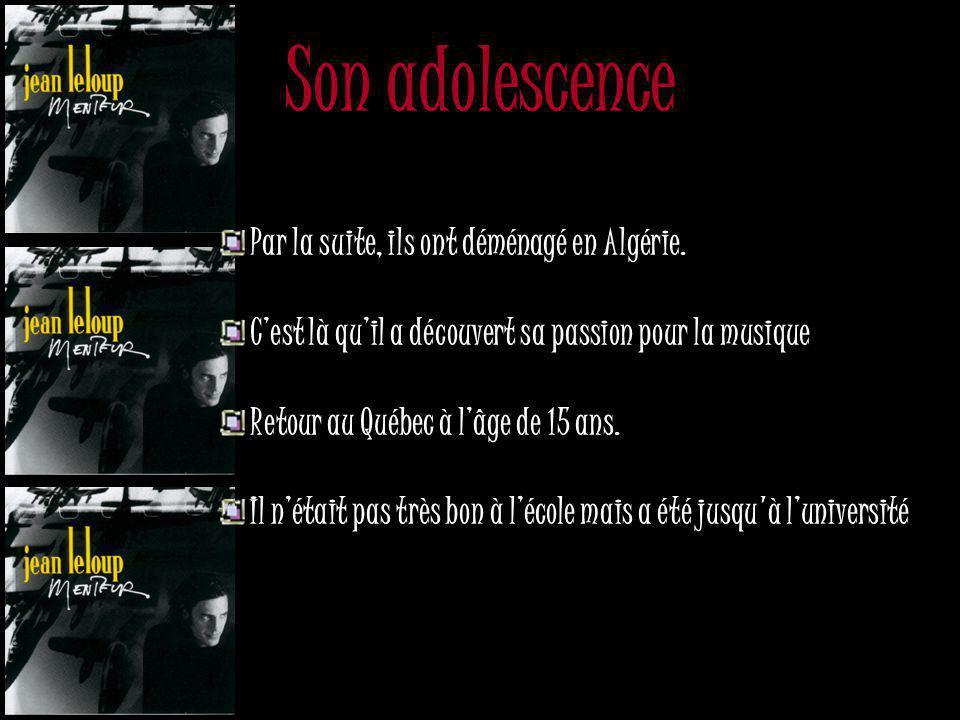 Maintenant … Son enfance Naissance 14 mai 1961 Ste-Foy en banlieue de Québec Il a donc 41 ans Jeunesse Grandit en Afrique parce que ces parents étaien
