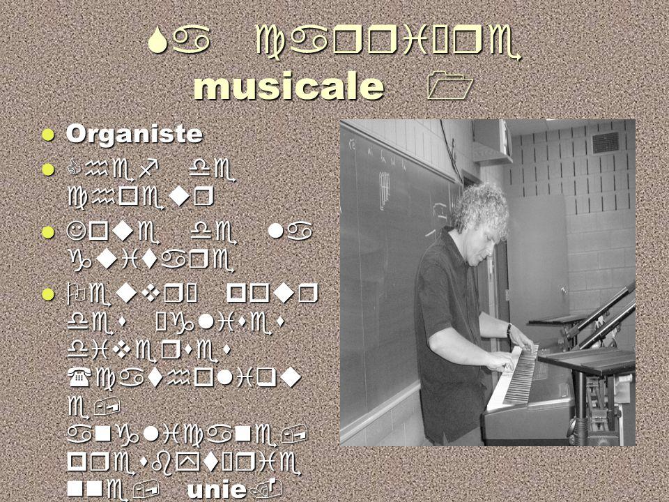 Son enseignement à Beaubois Il a ense  gn é la musique dans plusieurs commissions scolaire. Il a ense  gn é la musique dans plusieurs commissions sc