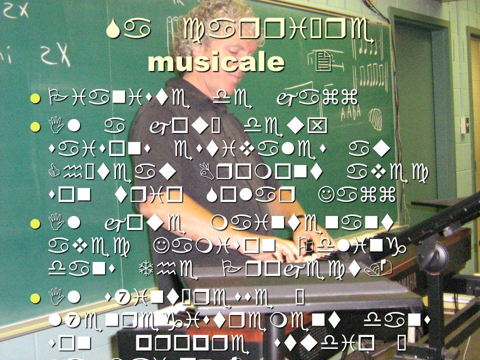 Sa carrière musicale 2 Pianiste de jazz Pianiste de jazz Il a joué deux saisons estivales au Château Bromont avec son trio Solar Jazz Il a joué deux saisons estivales au Château Bromont avec son trio Solar Jazz Il joue maintenant avec Jamison Odling dans The Project.