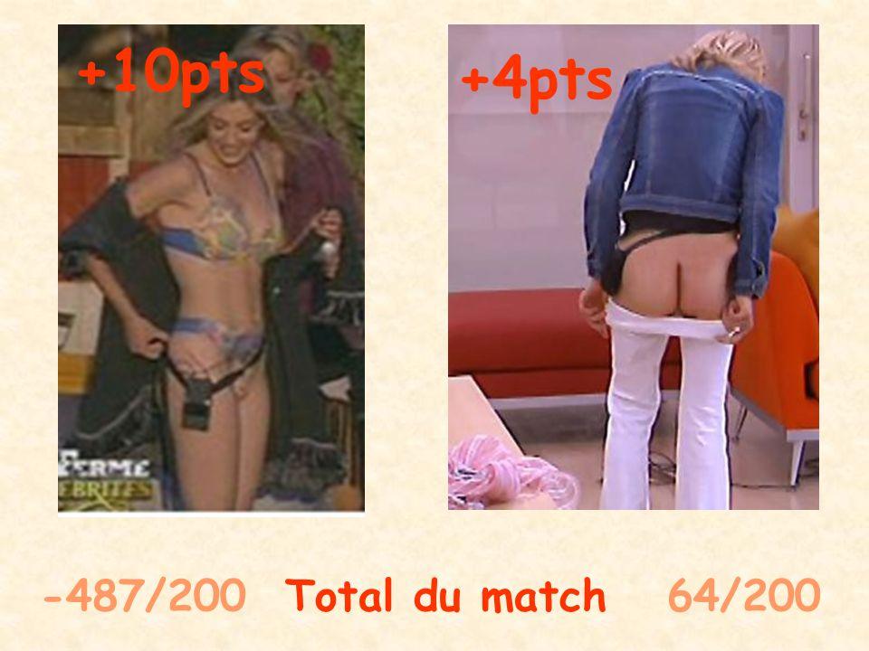 -487/200 Total du match 70/200 +0pts +6pts