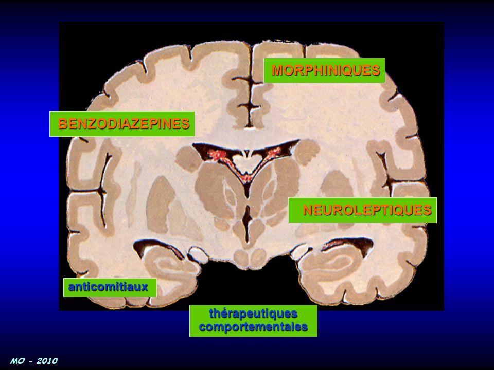 MO - 2010 NEUROLEPTIQUES anticomitiaux BENZODIAZEPINES MORPHINIQUES thérapeutiquescomportementales