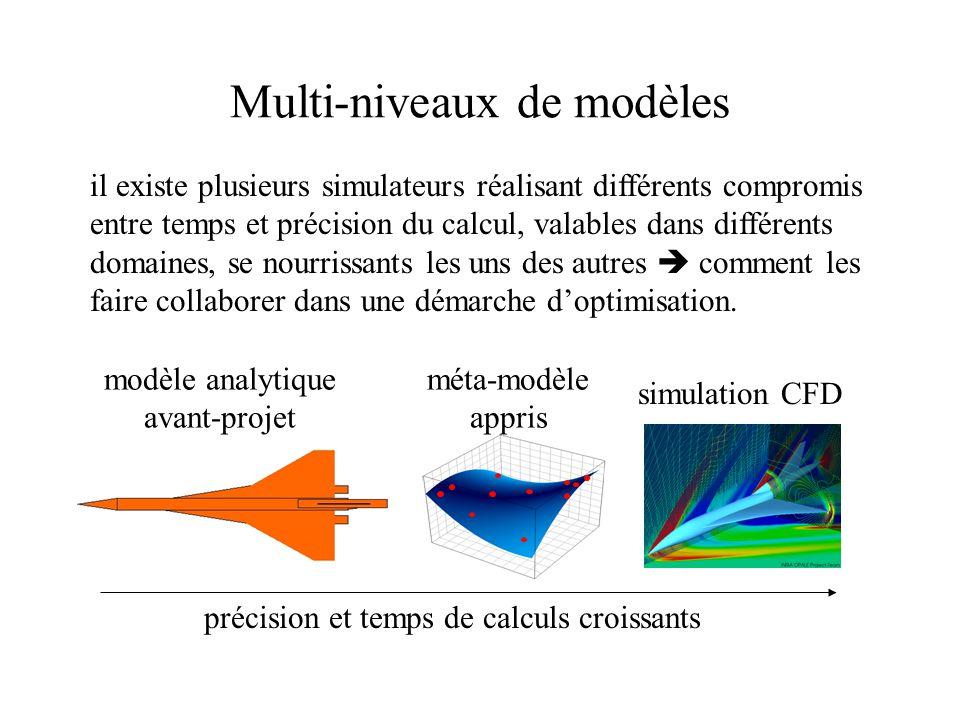 Multi-niveaux de paramètres Il existe souvent plusieurs niveaux de paramétrisations emboîtées, x (1) le plus simple, x (2) plus détaillé … x (p).