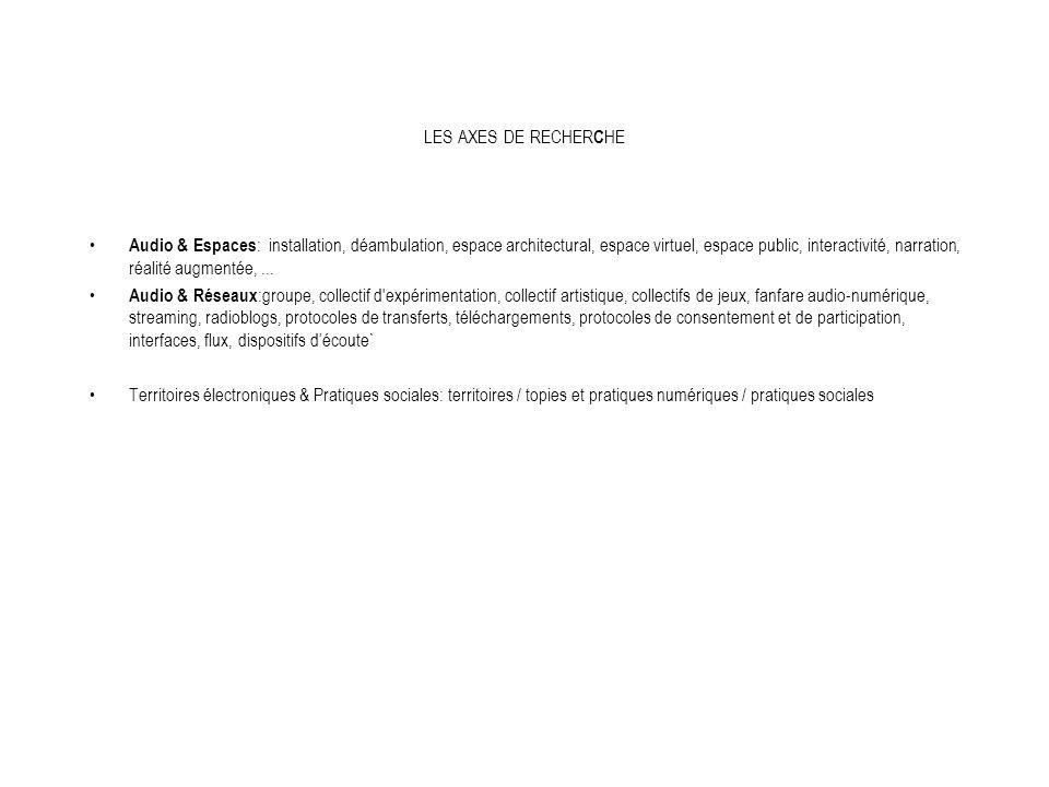 Symposium Audio/Espaces/Réseaux 22 et 23 novembre 2005 École Supérieure d Art d Aix-en-Provence Philippe Franck son installé dans la ville François Parra autotune.tk Erik Samakh chasseur-cueilleur...