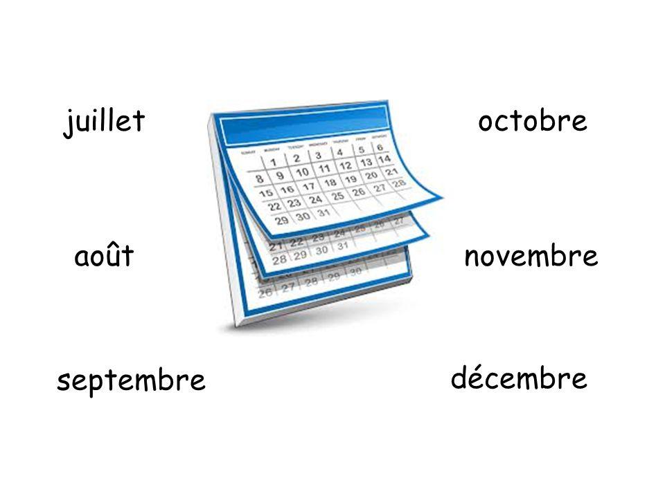 août juillet septembre octobre novembre décembre