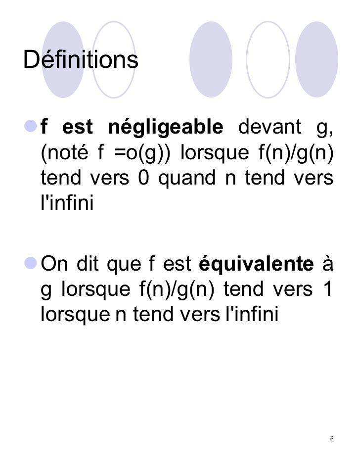 87 On suppose qu'additions et décalages s'effectuent en  (n).