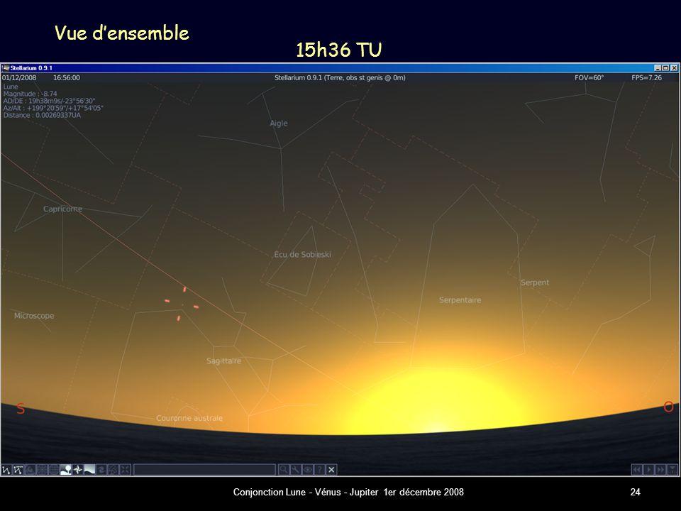 Conjonction Lune - Vénus - Jupiter 1er décembre 200824 Vue d'ensemble 15h36 TU