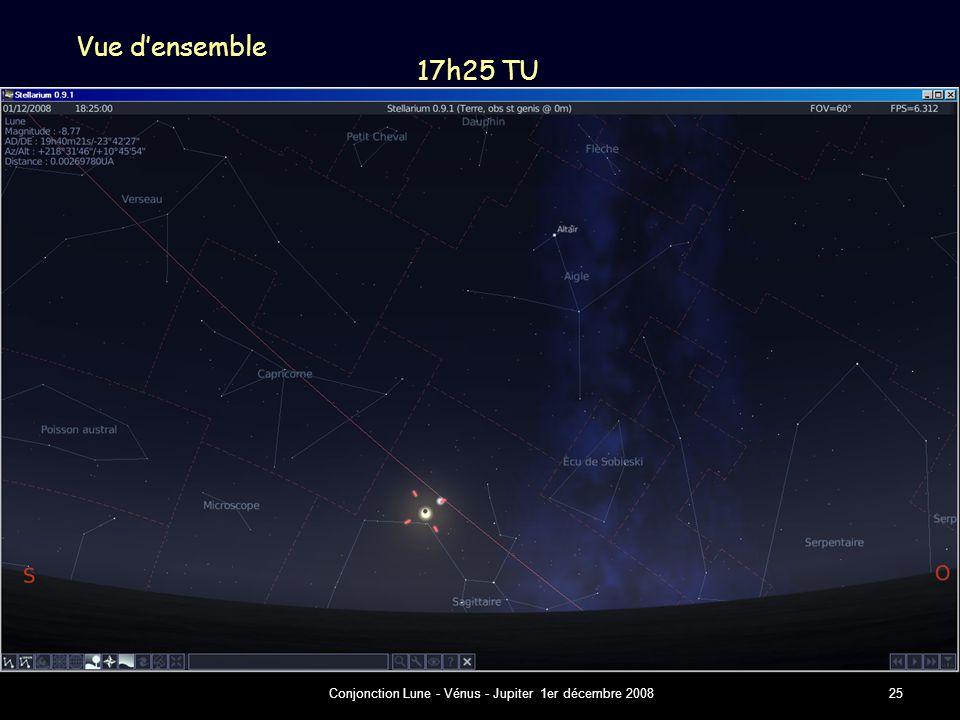 Conjonction Lune - Vénus - Jupiter 1er décembre 200825 Vue d'ensemble 17h25 TU