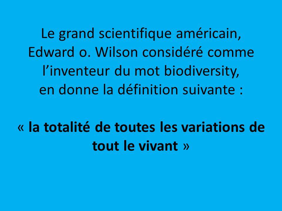 Le grand scientifique américain, Edward o.