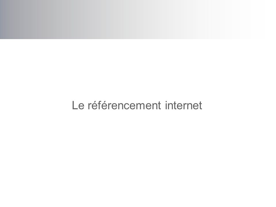 amcastonguay Sites de références Informations, apprentissage: –http://www.webrankinfo.com/http://www.webrankinfo.com/ –http://www.highrankings.com/http://www.highrankings.com/ –http://searchenginewatch.comhttp://searchenginewatch.com –http://www.google.com/webmasters/seo.htmlhttp://www.google.com/webmasters/seo.html –http://www.seomoz.org/http://www.seomoz.org/ Forums: –http://www.webmasterworld.com/category5.htmhttp://www.webmasterworld.com/category5.htm –http://forums.seochat.com/http://forums.seochat.com/ Veille: –http://www.seroundtable.com/http://www.seroundtable.com/ –http://www.searchenginejournal.com/http://www.searchenginejournal.com/ –http://battellemedia.com/http://battellemedia.com/