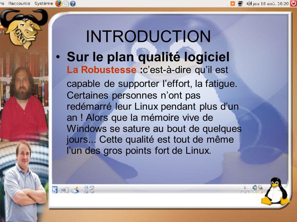 INTRODUCTION Sur le plan qualité logiciel La Robustesse :c'est-à-dire qu'il est capable de supporter l'effort, la fatigue. Certaines personnes n'ont p