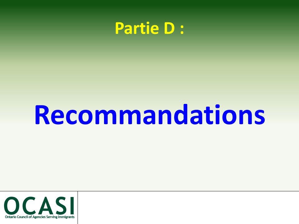 Partie D : Recommandations