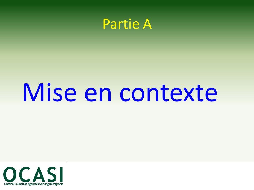 Partie A Mise en contexte