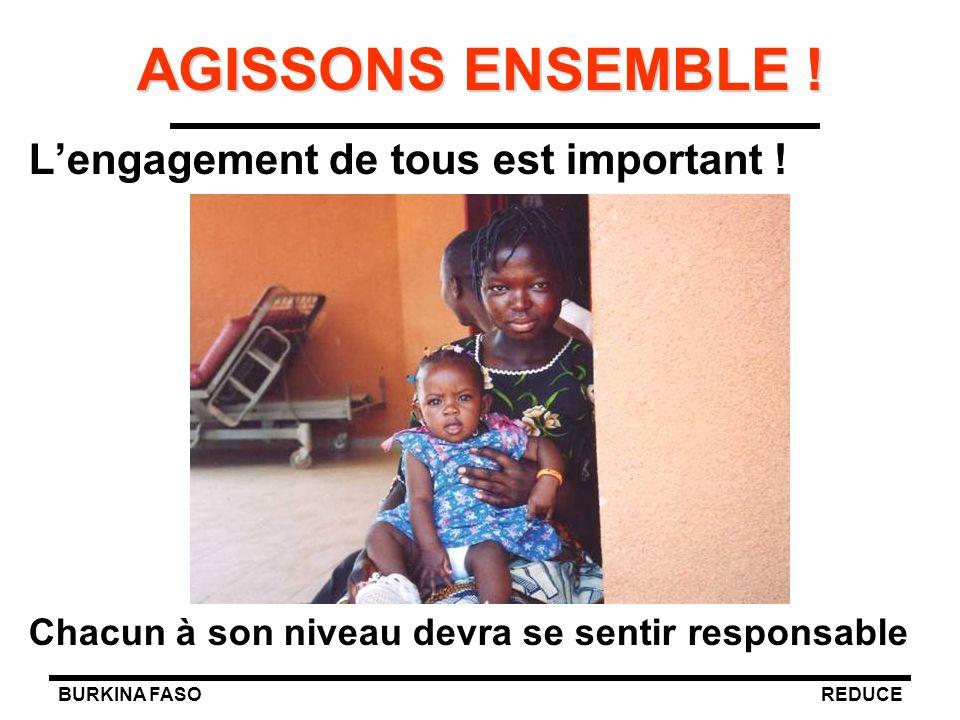 BURKINA FASOREDUCE AGISSONS ENSEMBLE ! L'engagement de tous est important ! Chacun à son niveau devra se sentir responsable