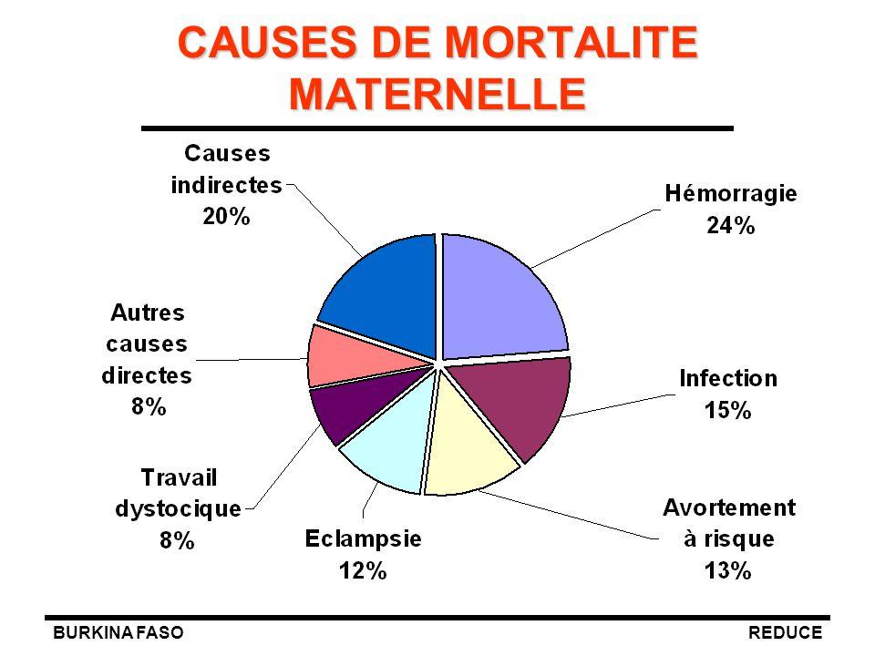 BURKINA FASOREDUCE CAUSES DE MORTALITE MATERNELLE