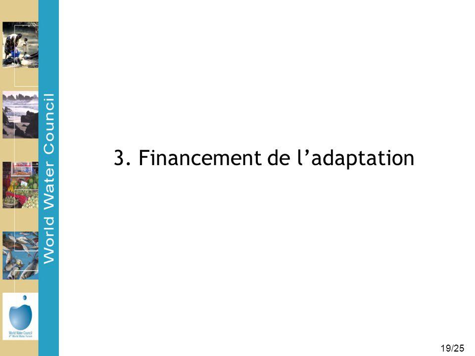 19/25 3. Financement de l'adaptation