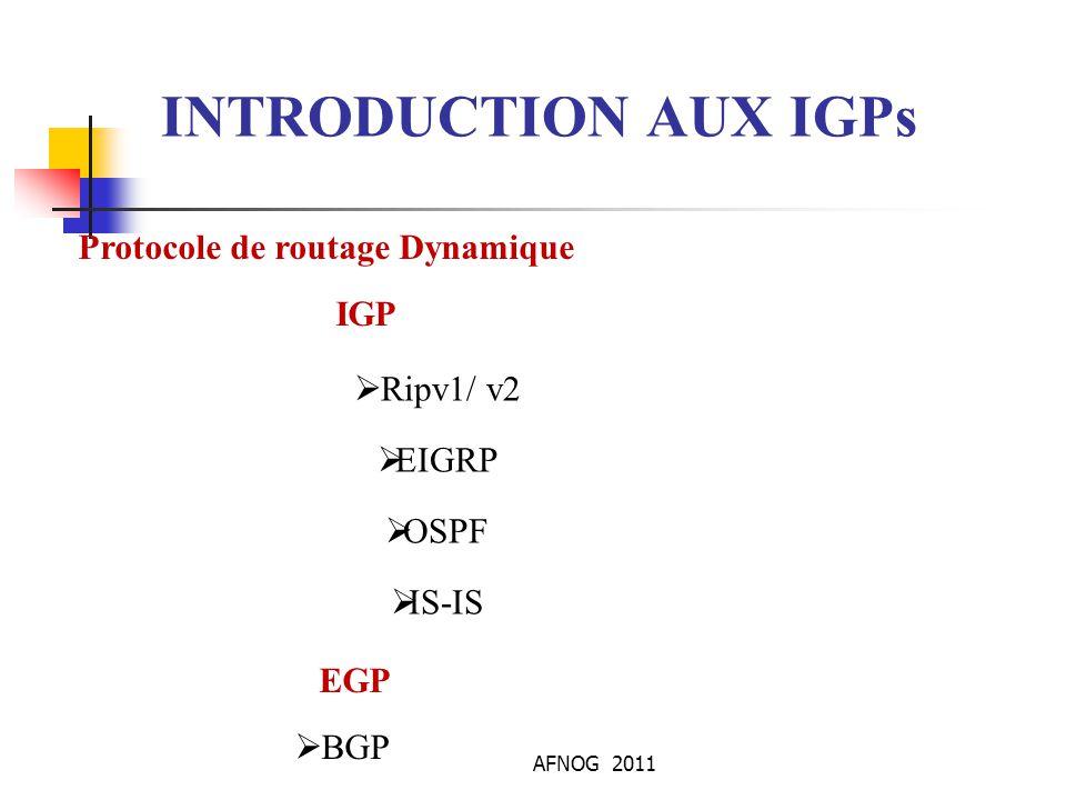 AFNOG 2011 OSPFv3 les commandes IOS Visualiser le voisinage OSPF: show ipv6 ospf neighbor show ipv6 ospf [ ] clear ipv6 ospf [ ] Visualiser les informations des LSA: show ipv6 ospf [ ] database link show ipv6 ospf [ ] database prefix Commande de debbug: debug ipv6 ospf …