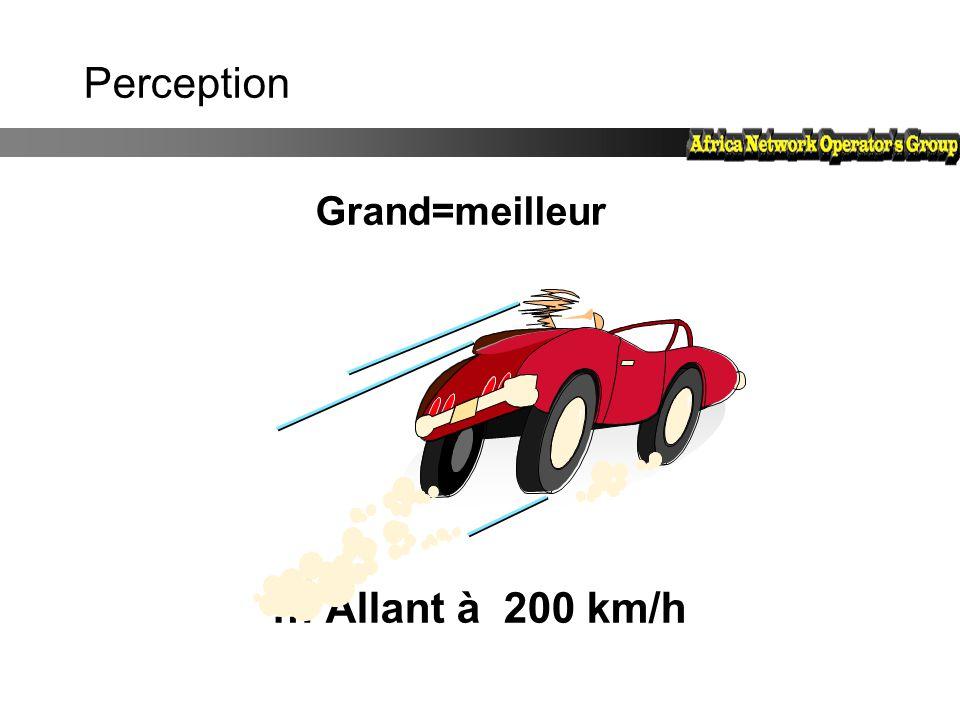 Perception … Allant à 200 km/h Grand=meilleur