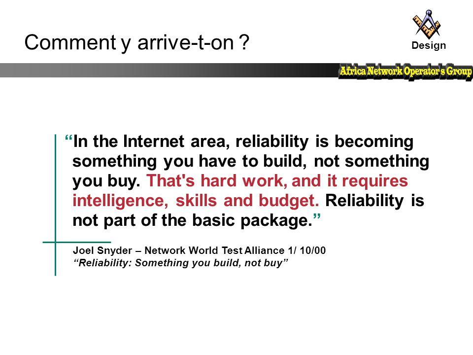 Critères de choix Fonctionalités Interopérabilité Fiabilité Facilité de maintenance Assistance du vendeur Performance Un routeur calcule des routes Un routeur transfert des paquets entre Interfaces Donc doit être bien dimensionné pour sa mission