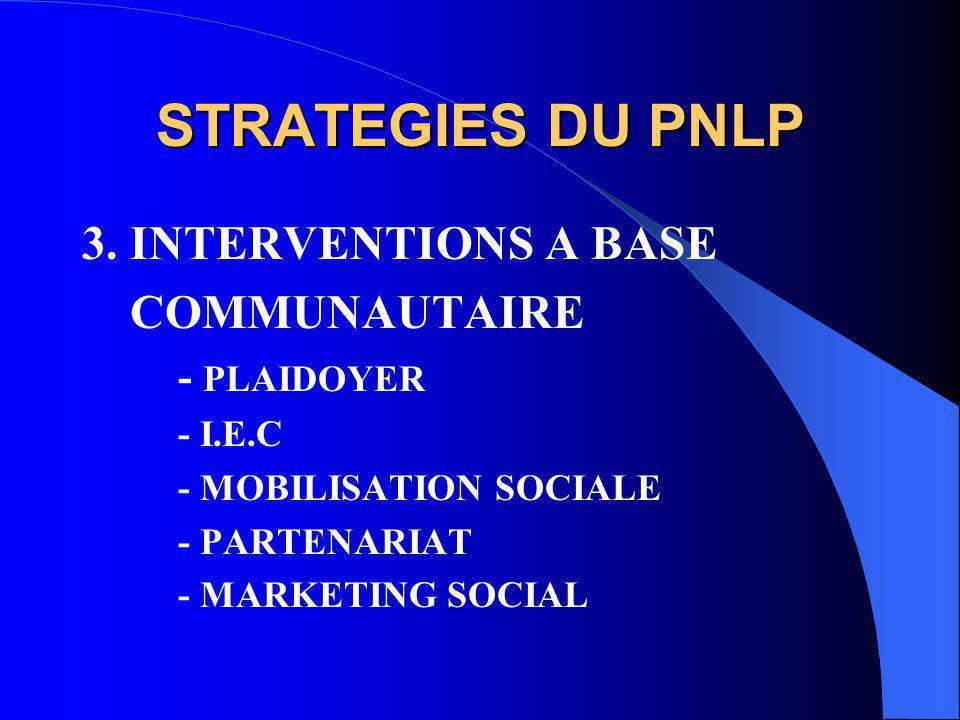 STRATEGIES DU PNLP 3.