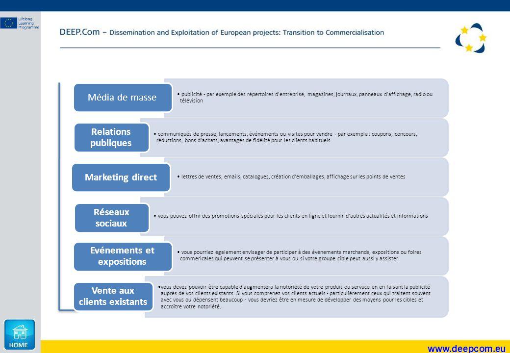 www.deepcom.eu publicité - par exemple des répertoires d'entreprise, magazines, journaux, panneaux d'affichage, radio ou télévision Média de masse com