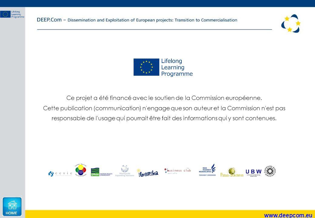 Ce projet a été financé avec le soutien de la Commission européenne. Cette publication (communication) n'engage que son auteur et la Commission n'est