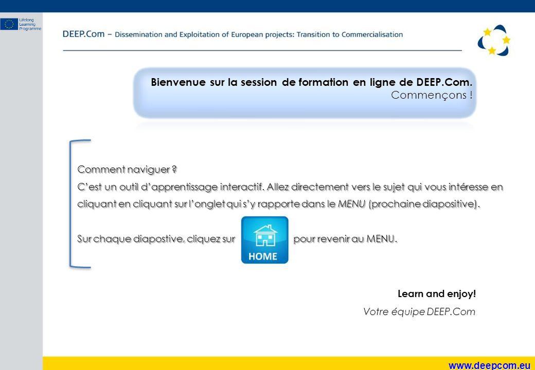 www.deepcom.eu Questions à se poser lorsque vous définissez le Produit/Service : Qu'est-ce que le client attend de votre produit/service .