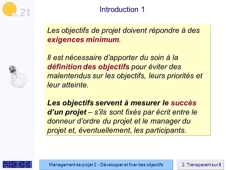 Management de projet 2 - Développer et fixer des objectifs2.