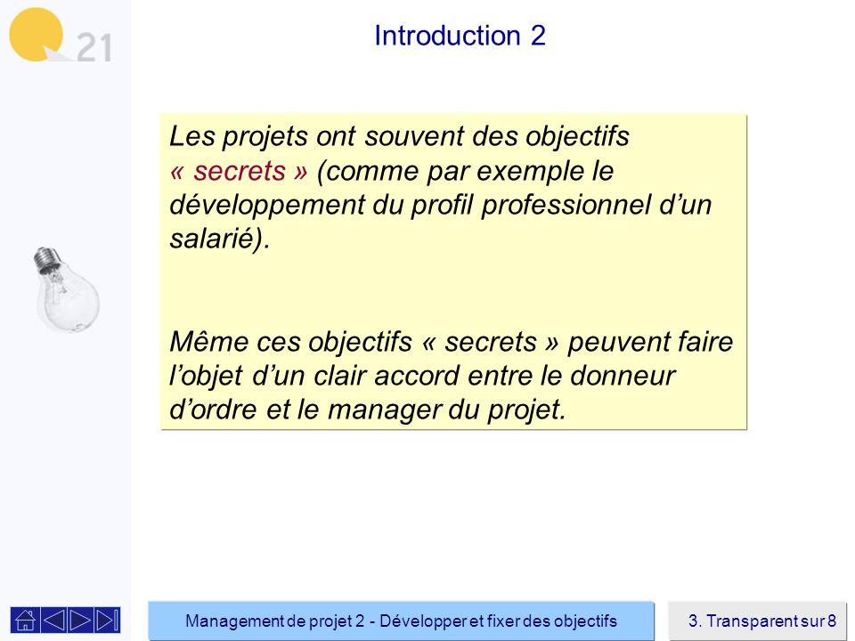 Management de projet 2 - Développer et fixer des objectifs3.