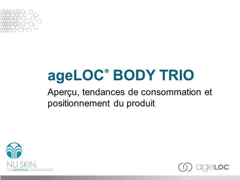 L ageLOC ® Body Trio vous donne une apparence affinée, plus lisse, plus ferme et plus jeune en vous rendant une silhouette galbée et en ciblant l aspect de la graisse, de la cellulite et en lissant la peau.