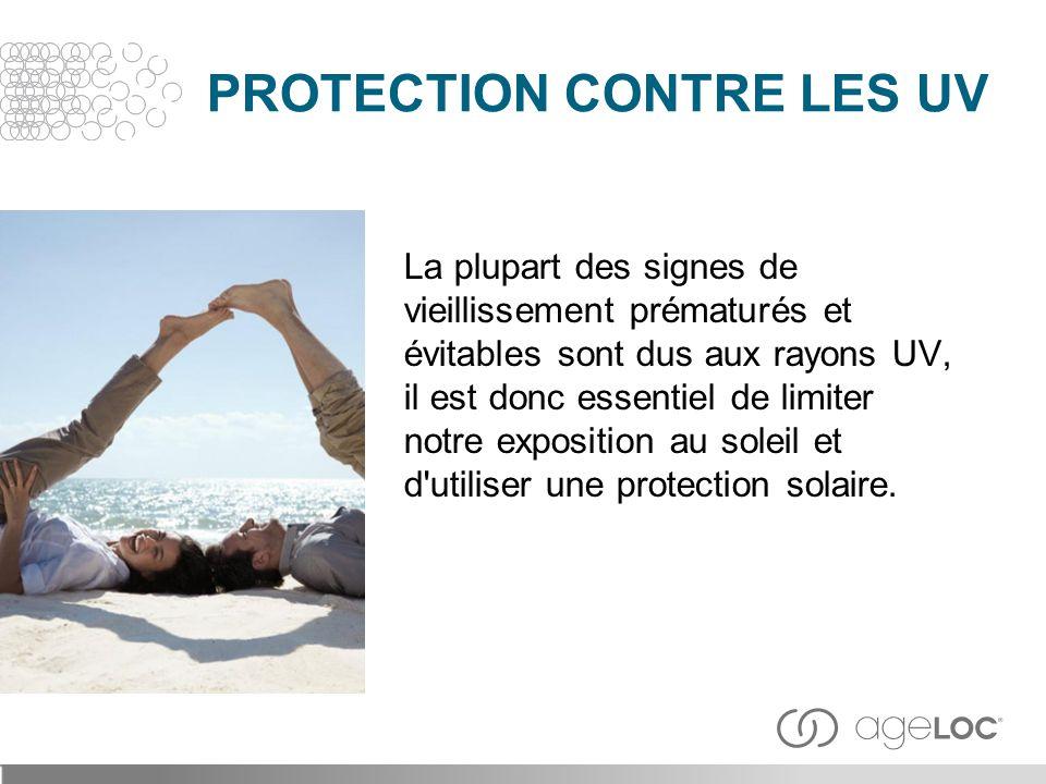 La plupart des signes de vieillissement prématurés et évitables sont dus aux rayons UV, il est donc essentiel de limiter notre exposition au soleil et
