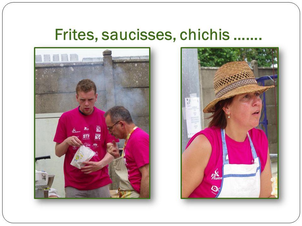 Frites, saucisses, chichis …….