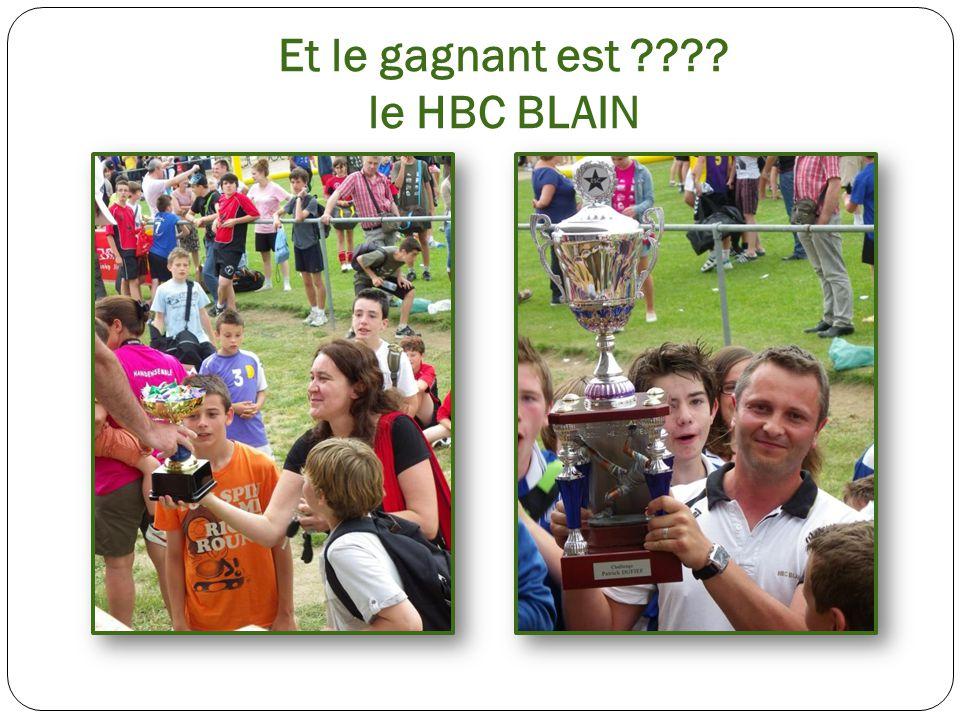 Et le gagnant est ???? le HBC BLAIN