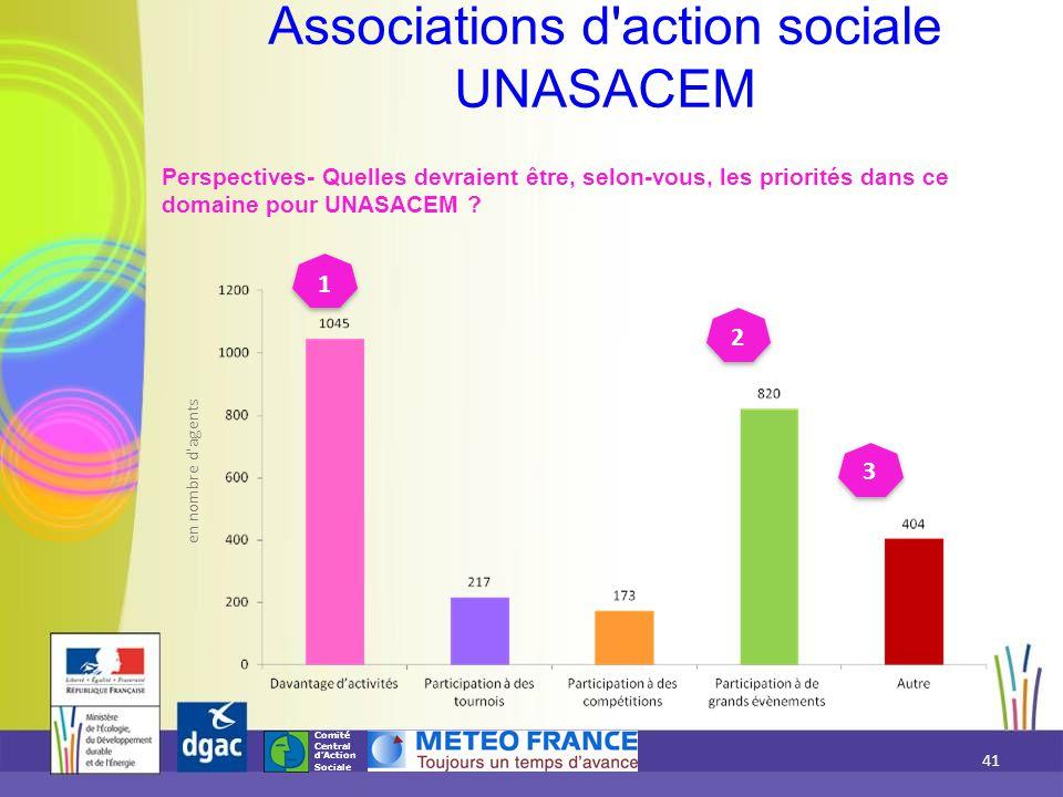 Comité Central d'Action Sociale Associations d'action sociale UNASACEM Perspectives- Quelles devraient être, selon-vous, les priorités dans ce domaine