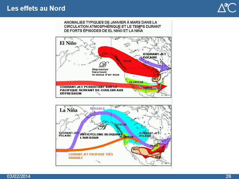 Les effets au Nord 2603/02/2014