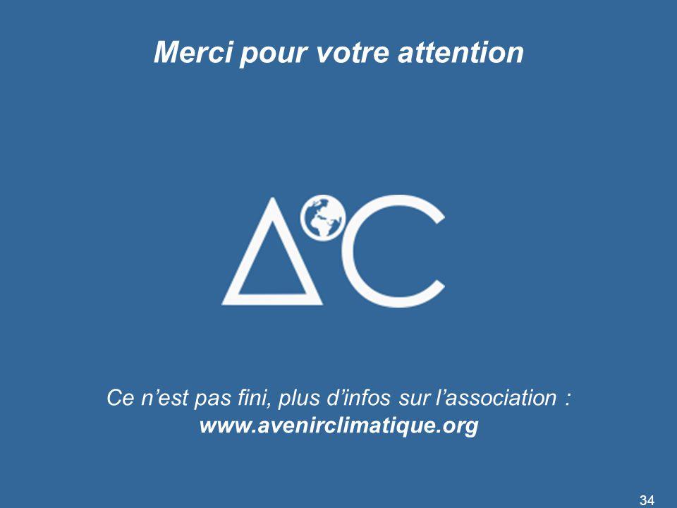 Merci pour votre attention Ce n'est pas fini, plus d'infos sur l'association : www.avenirclimatique.org 34